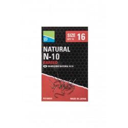 Hameçons Natural N10 à ardillons