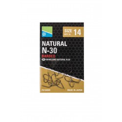 Hameçons Natural N30 à ardillons